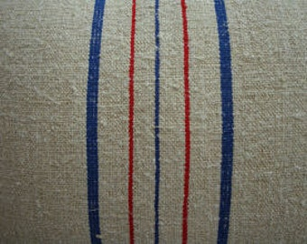 GrainSacK Pillow French CoTTagE SHaBBy CHiC Blue Red Stripe 14x18 Pillow