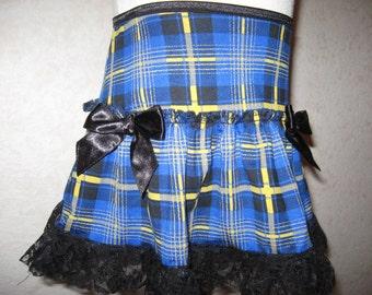 blue,Black,Yellow Tartan Check Lace Frilly Festival Mini Skirt,Punk,Lolita,All sizes,Goth,sequoia