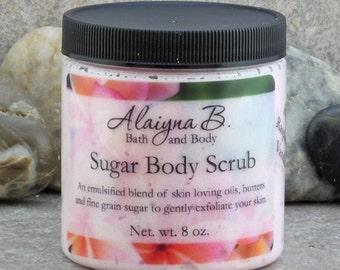 Fine Grain Sugar Body Scrub Choose Your Scent  - 8 oz