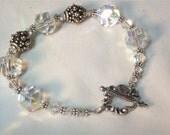 Swarovski Crystal and Sterling Silver Bracelet