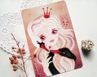 Swan Princess 4 x 6 Valentine Postcard