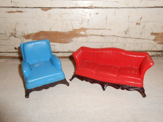Vintage Renwal Dollhouse Plastic Furniture By Totallyvintage