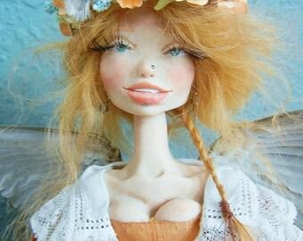 OOAK Posable Art Doll Autumn Wild Fall Fairy Fae  by Moninesfaeries