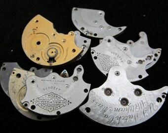Destash Steampunk Watch Clock Parts Movements Plates Art Grab Bag PR 41