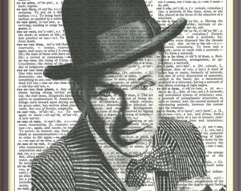 Frank Sinatra--Vintage Dictionary Art Print---Fits 8x10 Mat or Frame