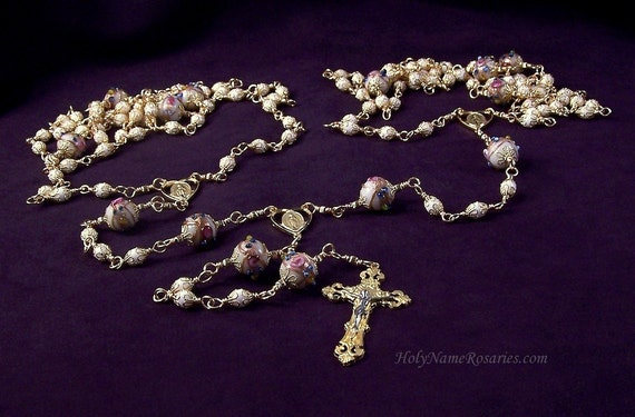 Lazo Wedding Rosary Custom Made to Order Unbreakable Wire Wrapped