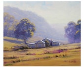 FARM Oil PAINTING Original AUSTRALIAN Landscape artwork on canvas by Graham Gercken