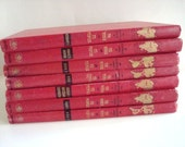 Red Vintage Books-Classic-Instant Library-Book Decor