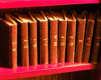 Handmade Set of Dollhouse Encyclopedias