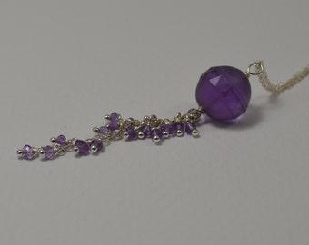 Amethyst Tassel Necklace