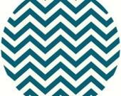 Jay-Cyn Designs for Birch Fabrics, Mod Basics 2, Organic, Skinny Chevron Teal, 1 Yard