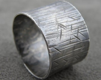 Scars - Wide Silver Ring