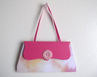 Purse gift card - Pink with Flower