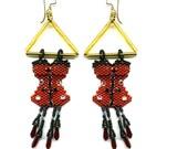 Corsete Earrings Bead Pattern