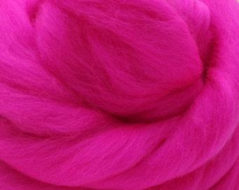 4 oz. Merino Wool Top - Neon Pink - Ships Free
