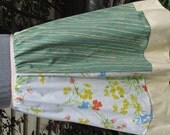 CLEARANCE Sweet Four Panel A-line Skirt for Women - Upcycled & Vintage Fabrics - Size Small