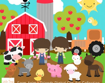 Our Farm Animals Digital  clip art Clipart Collection- Personal and Small Commercial Use