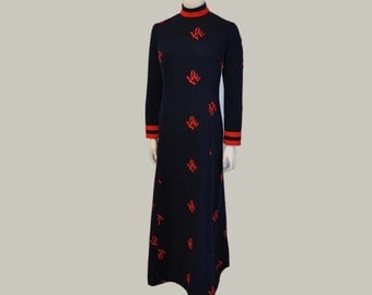 1960's Maxi / Robert Indiana Love Vintage 60's Mod Maxi Dress