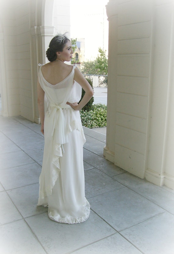 1930s Style Wedding Dresses | Art Deco Wedding Dress 1930s Wedding Dress  DAHLIA1930s Wedding Dress  DAHLIA $2,100.00 AT vintagedancer.com