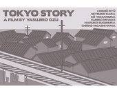 Retro poster Tokyo Story 18x12 inches print