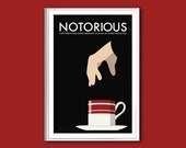 Movie poster Notorious 12x18 inches retro print