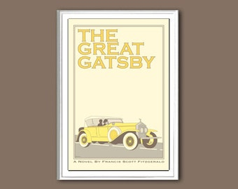 The Great Gatsby 6x4 inches retro small print