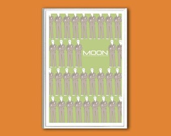 Moon sci-fi movie poster in various sizes