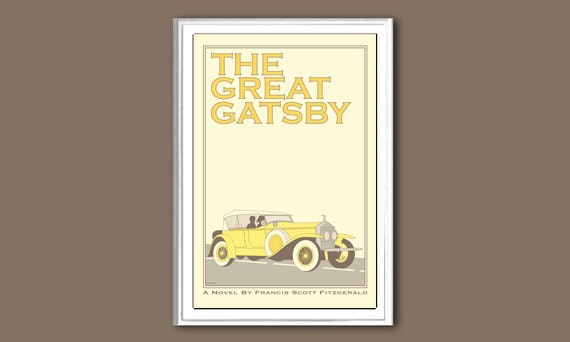 The Great Gatsby 6x4 inches retro small print