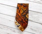Vintage 1960s Wide Necktie / Hawaiian Barkcloth / Mad Men Era