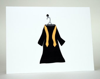 Graduation Card- Congratulations Card- graduate, graduation gown, graduation day, high school, college