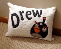 Angry Bird Personalized Pillow for Kids and Teens