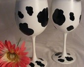 custom cow print wine glasses for mackenzieconklin