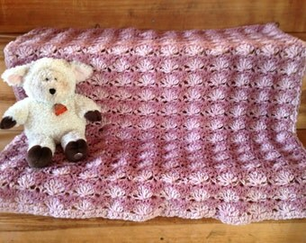 Baby Blanket Crochet Pattern Stacked Shells