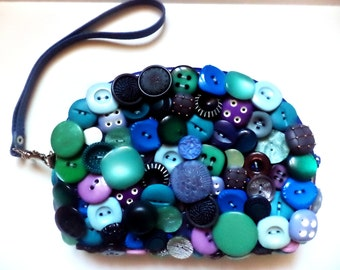 Handmade beautiful original purse of buttons