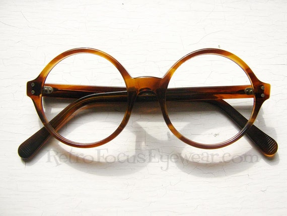 Eyeglass Frame Weight : USA Light Weight Round Eyeglass Frames by BackThennishVintage