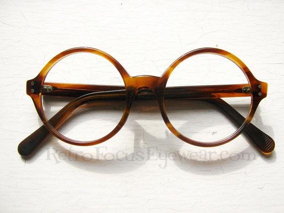 USA Light Weight Round Eyeglass Frames by BackThennishVintage
