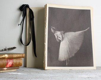 Vintage Ballerina Print - Book Plate - Giselle - Alicia Markova - Ballet Photograph