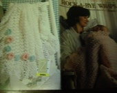 Baby Afghan Crocheting Patterns Rock A Bye Wraps Book 2 Leisure Arts 2807 Terry Kimbrough Crochet Pattern Leaflet