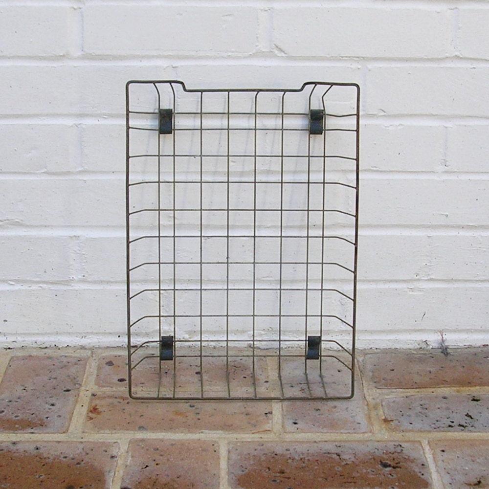 Rustic Copper Pail Pendant Light By Cre8iveconcrete On Etsy: Vintage Metal Wire Basket Baskets Vintage Metal By