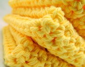 Set of 3 Yellow Cotton Wash Cloths - countrysoapsbymarlen