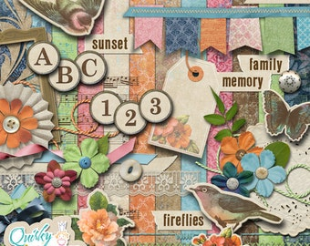 Evening Song Digital Scrapbook Kit