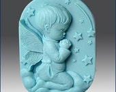 2D Silicone Soap Mold - Praying Angel - boy  - free shipping