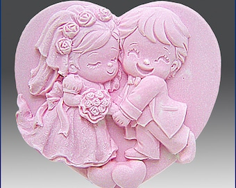 2D Silicone Soap Mold - Cutest Couple