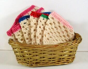 Vintage Cozies, Egg Covers, Basket, Multi Color, Set of 6  (69-13)