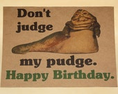 Star Wars Birthday card and envelope - Jabba - Geek birthday card - awesome