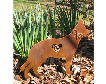 German Shepherd  Dog Metal Garden Stake - Metal Yard Art - Metal Garden Art - Pet Memorial