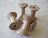 10 Wooden Spools, Hourglass Wood Spools, Spools for Twine, 2 inch Spool