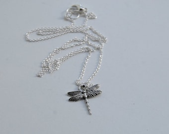 Tiny Dragonfly Necklace