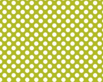 LAST YARD Riley Blake Designs Little Matryoshka by Carly Griffith C3313 Dots in Green