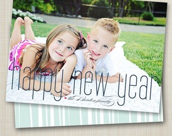 new years photo card - skinny new year.